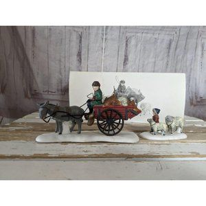 Dept 56 58190 bringing fleeces to the mill donkey